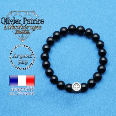 bracelet cube croix en argent 925 et sa pierre naturelle en spinelle