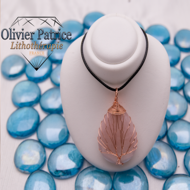 Arbre de vie quartz rose pierre naturelle
