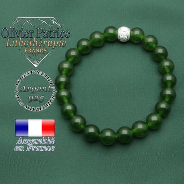 Sportive ? Faites vous plaisir avec un bracelet des jeux olympiques en jade naturelle de taiwan vert