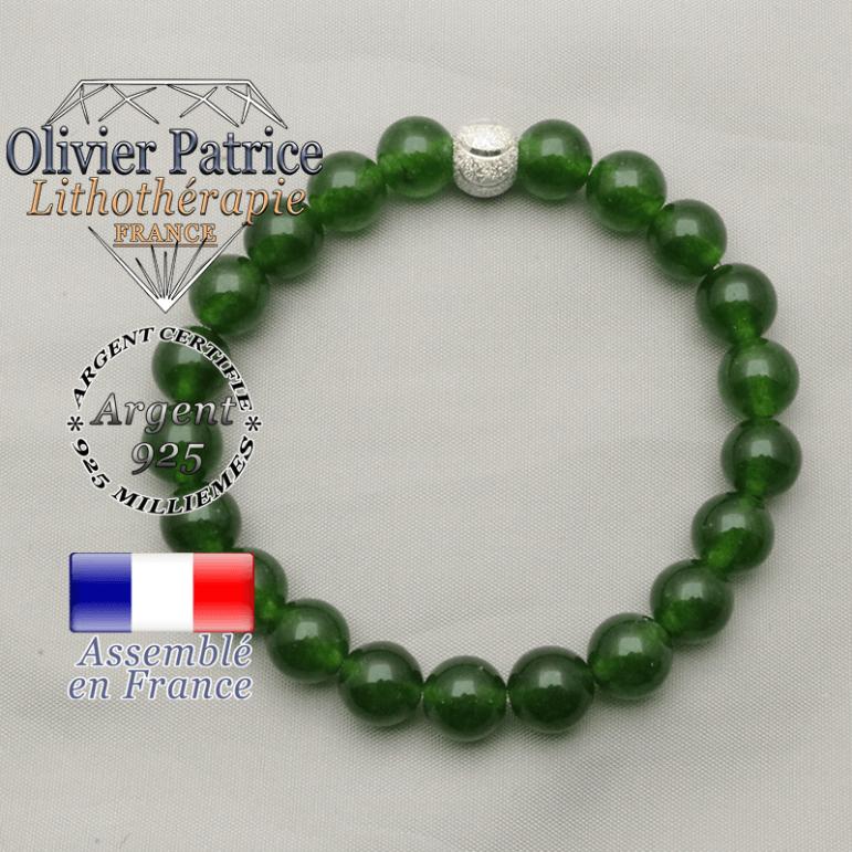 Femme tout sourire en jade et argent 925 : pierre naturelle de taiwan