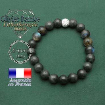 Votre bracelet en pierres naturelles labradorite argent 925 avec sa finition spécial jeux olympiques