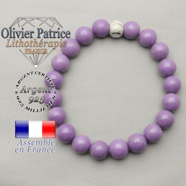 Bracelet phosphosidérite et sourire de strass en argent 925 pierres entièrement naturelles