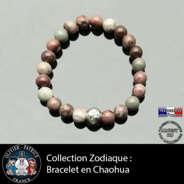 Bracelet chaochua et son signe astrologique boule zircon