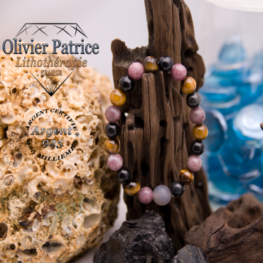 Bracelet aux 4 pierres naturelles de protection