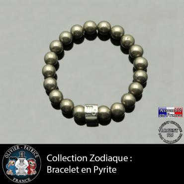 Bracelet en pyrite et son ...
