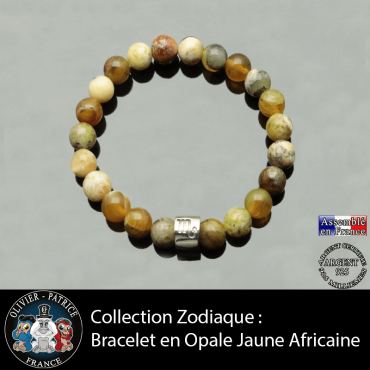 Bracelet opale jaune ...