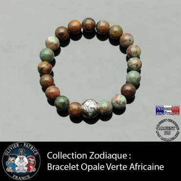 Bracelet opale verte...