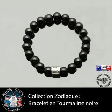 Bracelet tourmaline noire ...