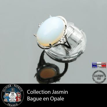 Bague Jasmin en opale et argent 925