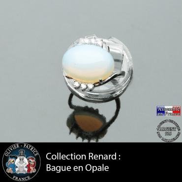 Bague collection Renard en opale natuelle et argent 925