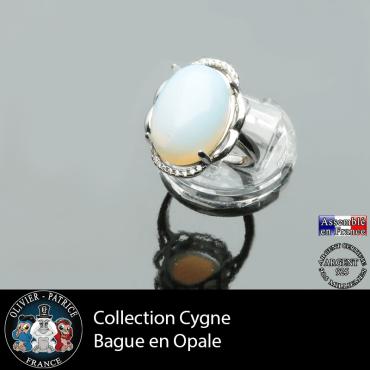 Bague Cygne en opale et argent 925