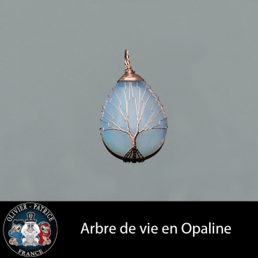 Arbre de vie en opaline pierre naturelle vendu dans son écrin de bijoux