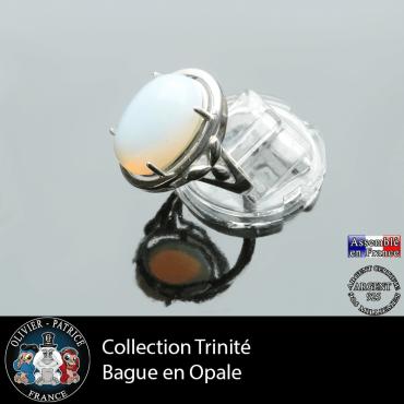 Bague Trinité en opale et argent 925