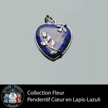 Cœur Lapis Lazulli - Pendentif vendu dans son écrin