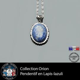 Collection Orion : Pendentif en argent 925 lapis lazuli