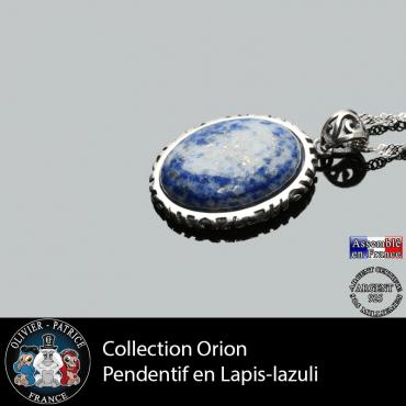 Pendentif en argent 925 lapis lazuli