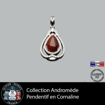 Pendentif Andromède Cornaline en argent 925
