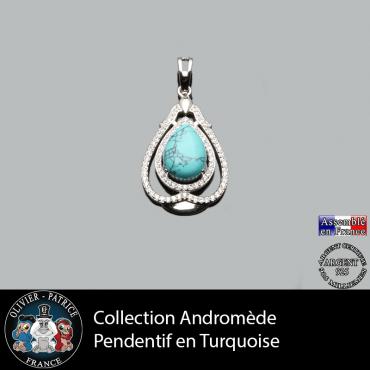 Pendentif Andromède Turquoise en argent 925