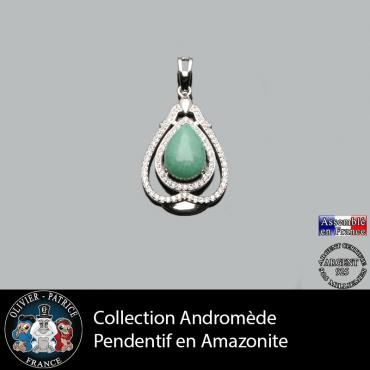 Pendentif Andromède Amazonite en argent 925