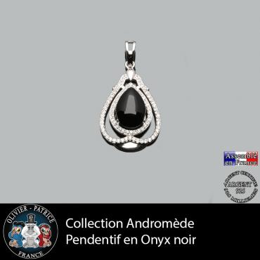 Pendentif Andromède Onyx noir en argent 925