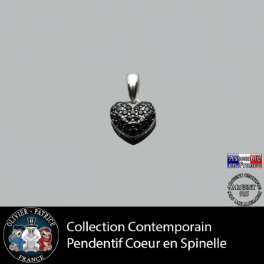 Collection contemporain : Pendentif coeur spinelle