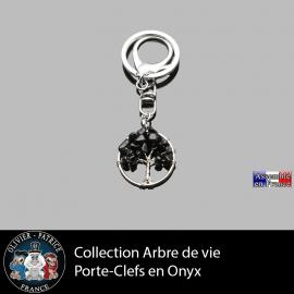 porte clefs en pierre naturelle onyx