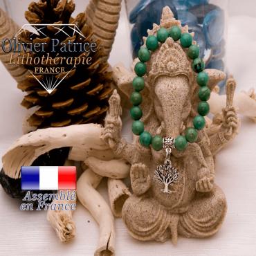Bracelet turquoise du Tibet et son charms arbre de vie en alliage