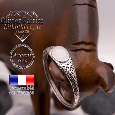 Bracelet toile d'araignée cristal de roche fermé en argent 925
