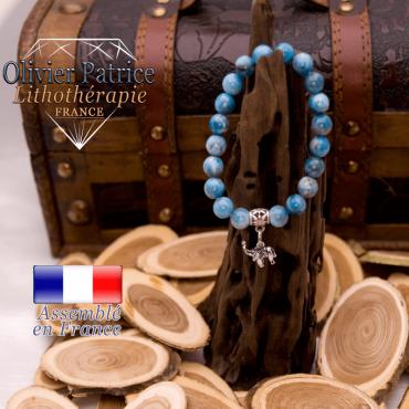 Bracelet apatite charms éléphant alliage
