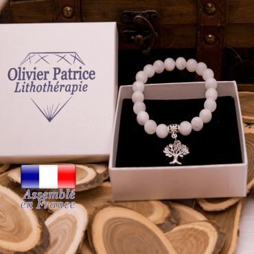 Bracelet pierre de lune charms arbre de vie en alliage