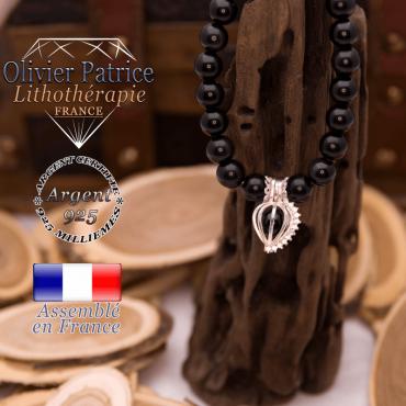 Bracelet spinelle cage strass argent 925
