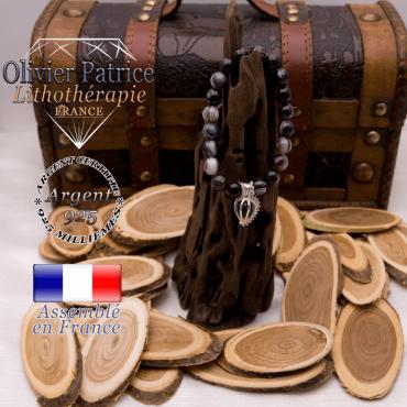 Bracelet sardonyx et sa cage strass en argent 925