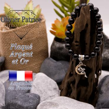 Bracelet spinelle charms fée plaqué or-argent