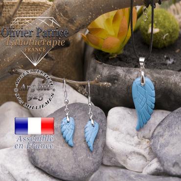 Parure ailes d'ange turquoise