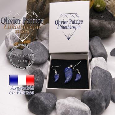 Parure ailes d'ange lapis lazuli