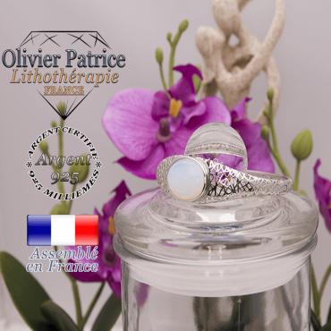 Bracelet opale toile d'araignée fermé en argent 925