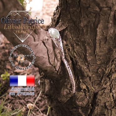 Bracelet aventurine toile d'araignée fermé en argent 925