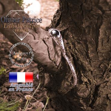 Bracelet hématite toile d'araignée fermé en argent 925