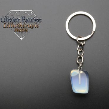 Porte-clés cube opale