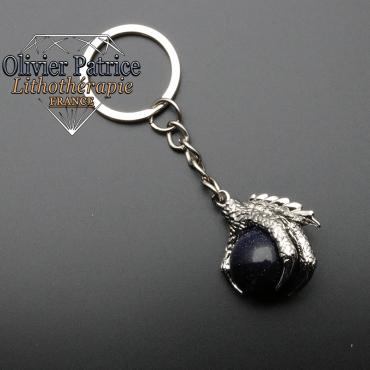 Porte-clés griffe de dragon blue stone