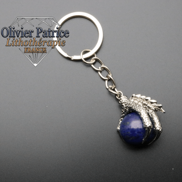 Porte-clés griffe de dragon lapis lazuli