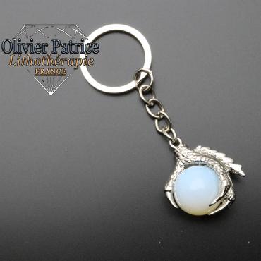 Porte-clés griffe de dragon opale