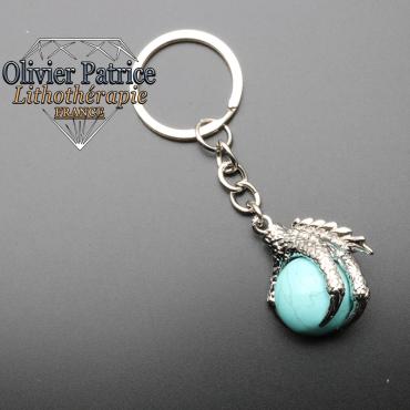 Porte-clés griffe de dragon turquoise