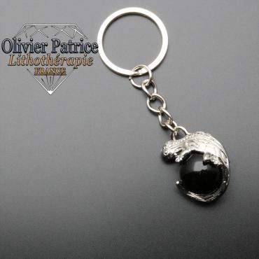 Porte-clés salamande onyx