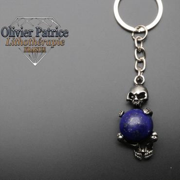 Porte-clés squelette lapis lazuli