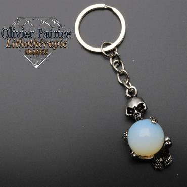 Porte-clés squelette opale