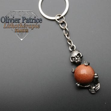 Porte-clés squelette goldstone