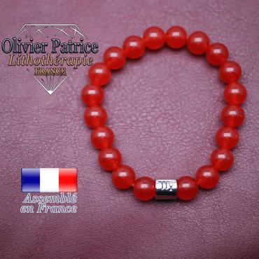 Bracelet agate rouge et son signe astrologique en alliage