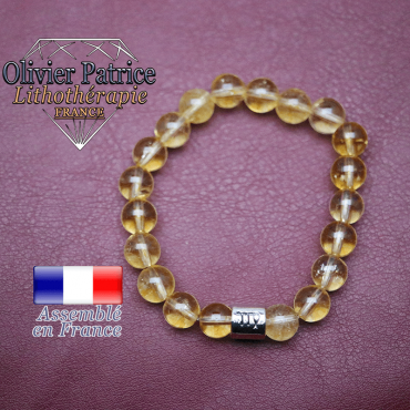 Bracelet citrine et son signe astrologique en alliage