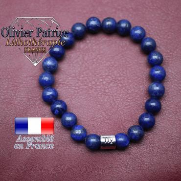 Bracelet lapis lazuli et son signe astrologique en alliage